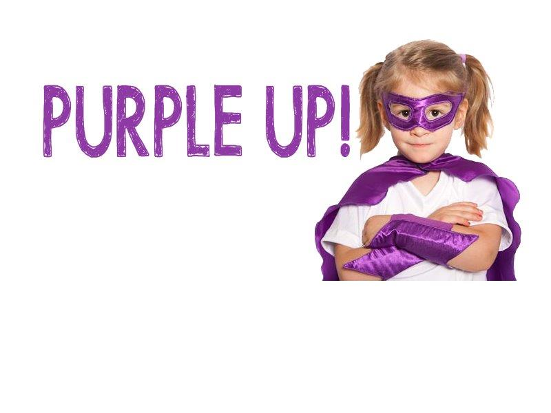 Month of the Military Child Purple Up Day